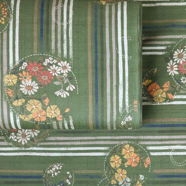 Stripes & Flowers - Green