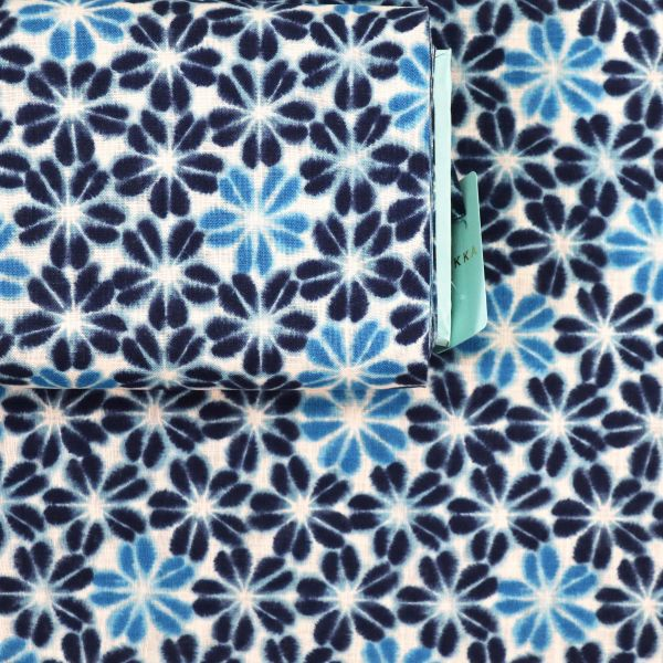 Shibori Flowers - Blue