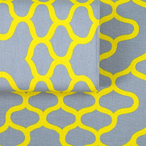 Abstract Waves - Grey Yellow