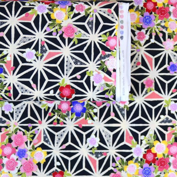 Asanoha Flowers - Pink