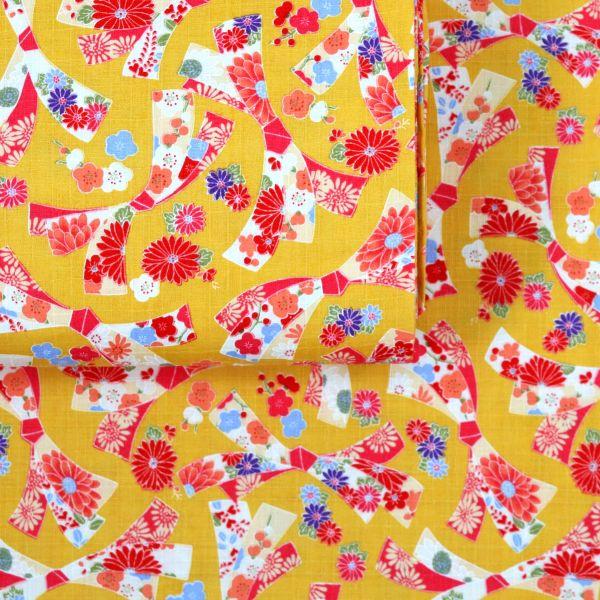 Small Tanzaku & Flowers - Yellow