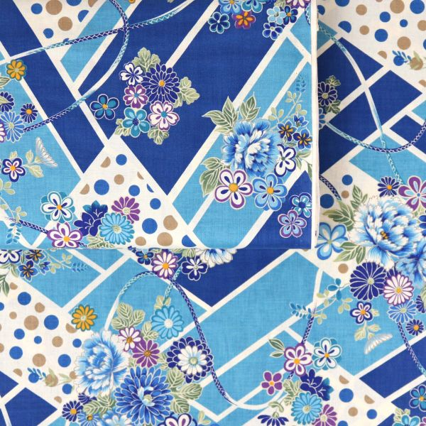 Triangel & Flowers - Blue