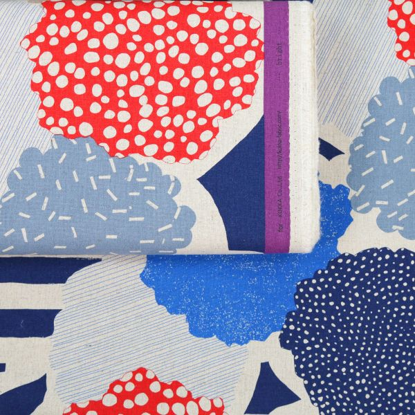 Big Dots & Stripes - Echino - Blue