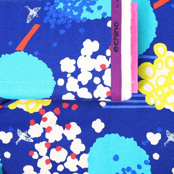Birds & Dots - Echino - Blue