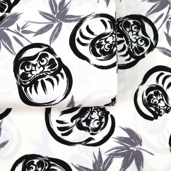 Kalligraphie Daruma - Black White