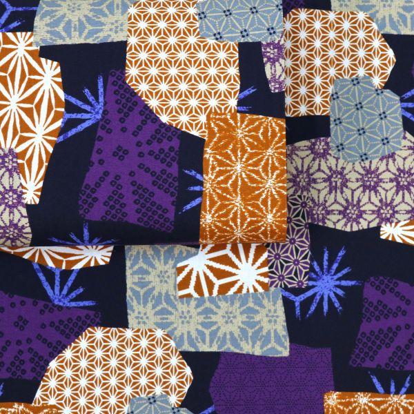 Asanoha Patch Style - Purple