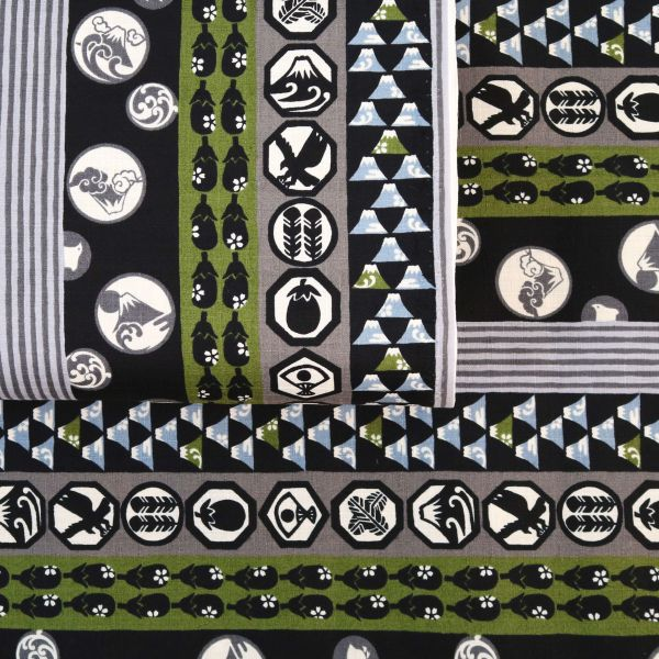 Japanese Pattern Mix - Black