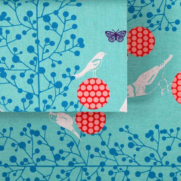 Birds & Branches - Echino - Mint