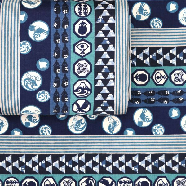 Japanese Pattern Mix - Blue