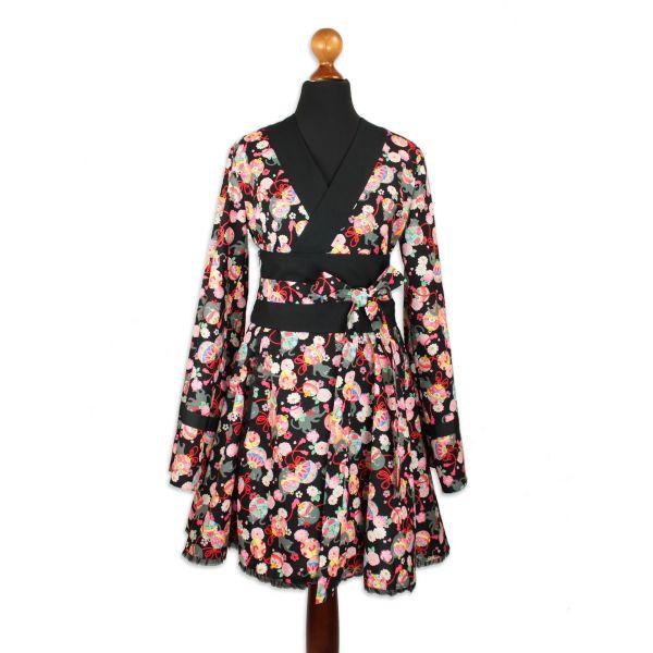 Dress Type K – Kuro Neko - Deep Black