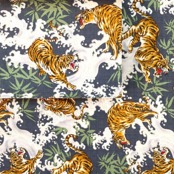 Tiger & Bambus - Grey Green