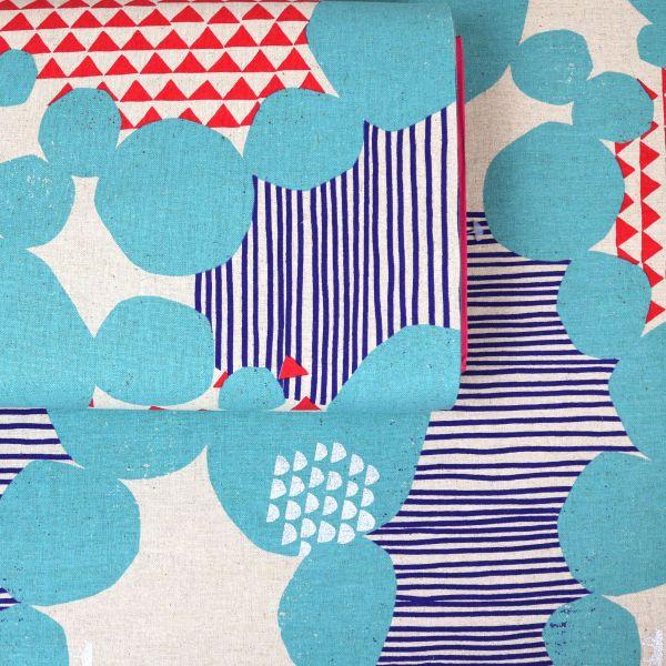 Dots, Stripes & Triangles - Echino - Light Blue
