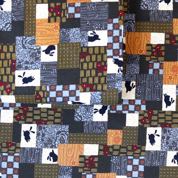 Rabbits & Squares - Brown