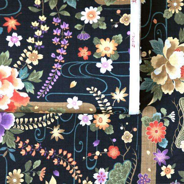 Japanese Flowers - Black
