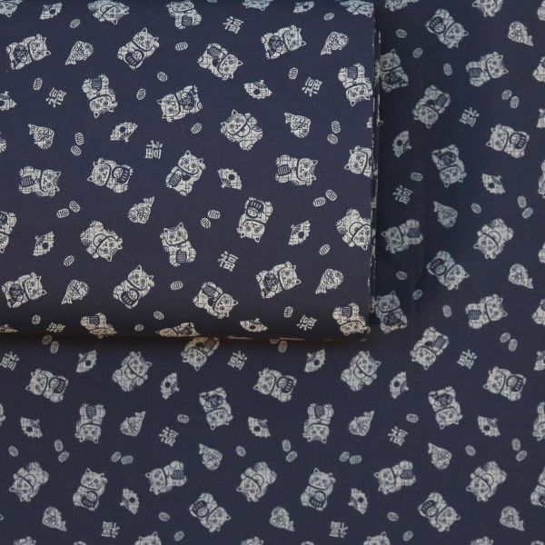 Maneki Neko Small - Deep Blue