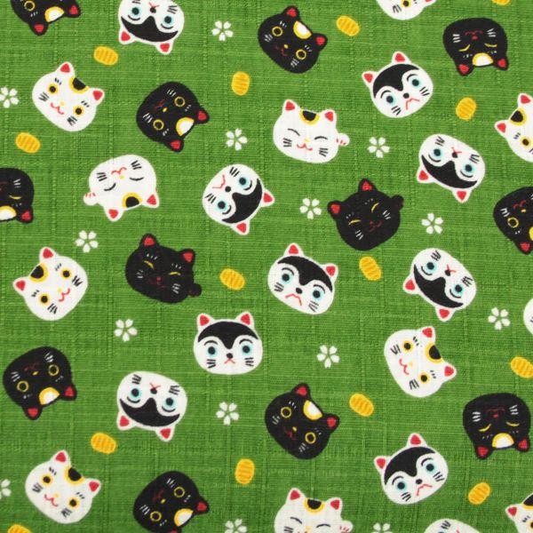Lucky Cats - Green