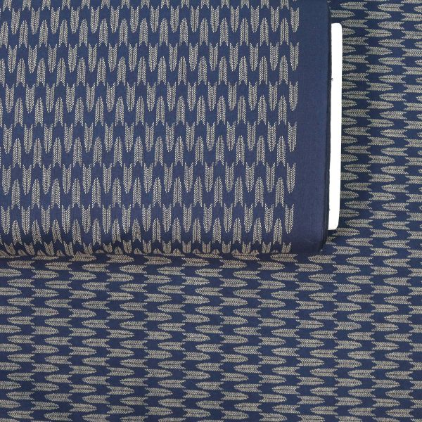 Small dotted Yagasuri - Deep Blue