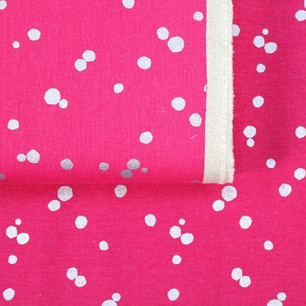Silver Dots - Echino - Pink