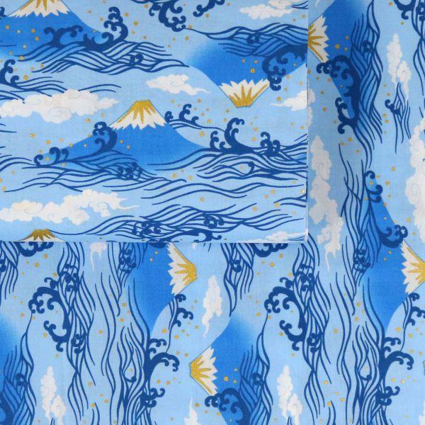 Fuji & Waves - Blue