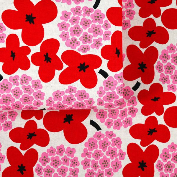 Modern Flowers No.2 - Red Pink