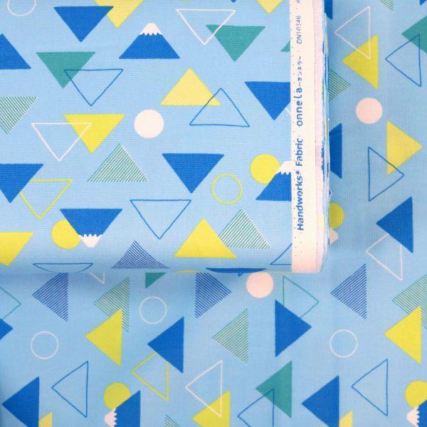 Fuji & Triangles - Soft Blue