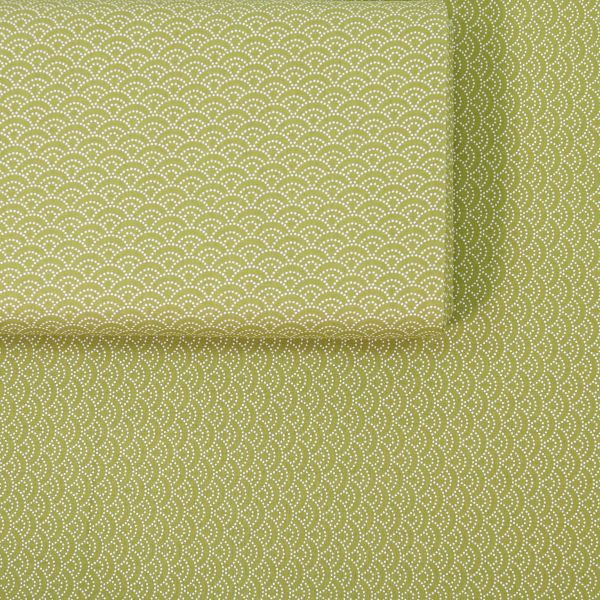 Seigaha Dotted - Green