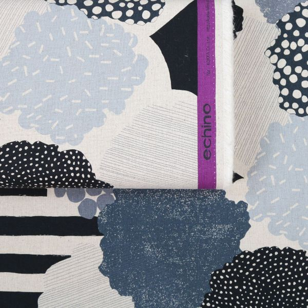 Big Dots & Stripes - Echino - Black