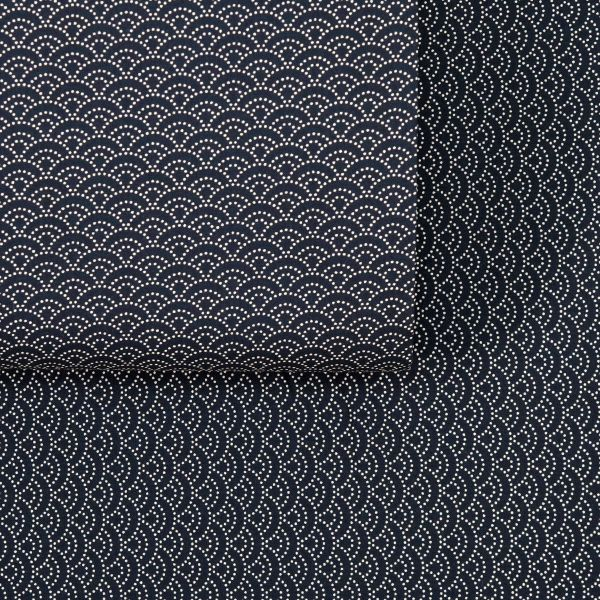 Seigaha dotted - Black