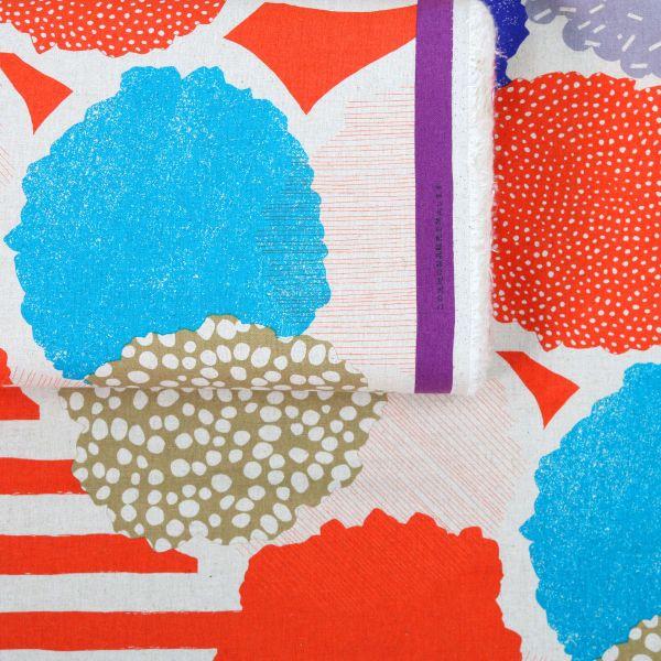 Big Dots & Stripes - Echino - Orange