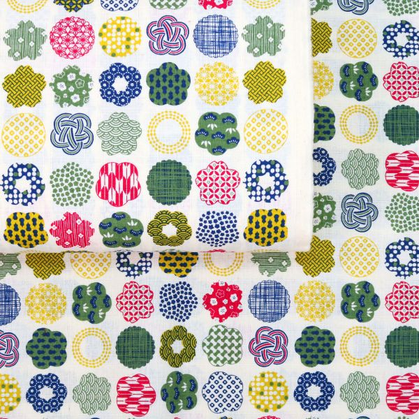 Flowers with Traditional Patterns - Creme
