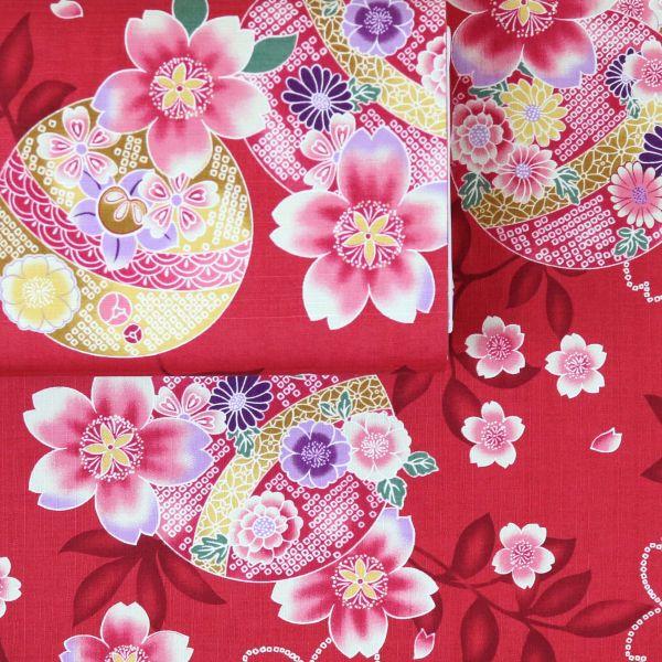 Kimono Flowers - Red