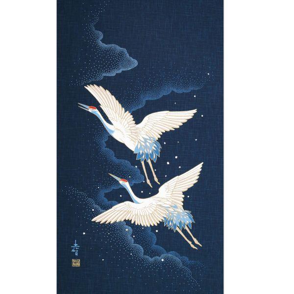 Noren Panel - Flying Tsuru