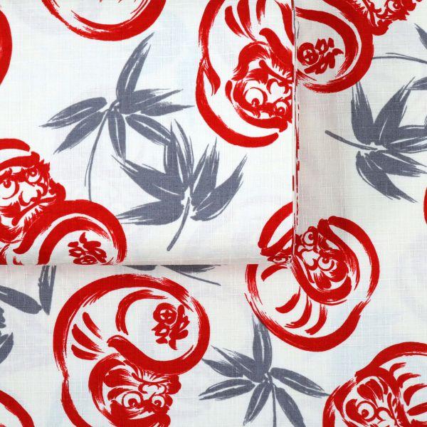 Kalligraphie Daruma - Red White