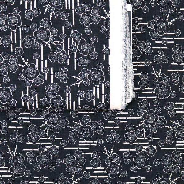Bambus And Cherry Blossoms - Black