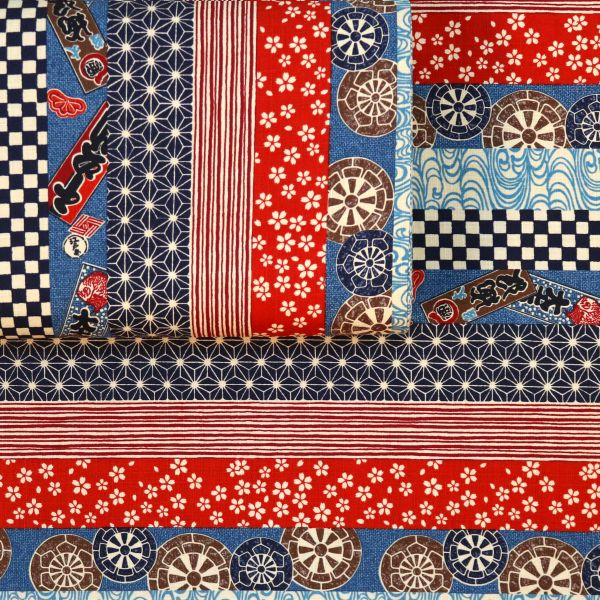 Pattern Mix Japan - Red Blue