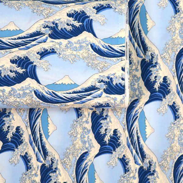 Hokusai no Nami - Light Blue & Silver