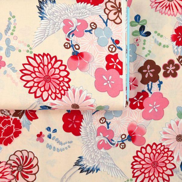 Bright Flowers with Tsuru - Creme